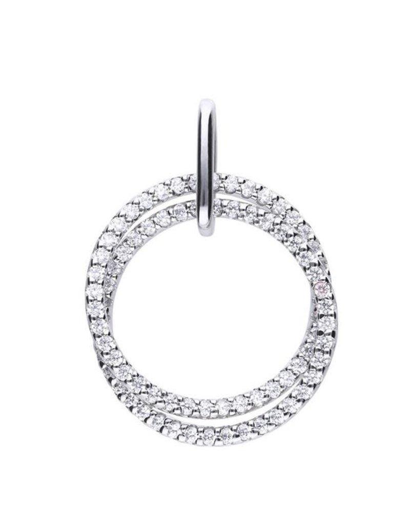 Diamonfire Diamonfire - Zilveren collier plus hanger - Zirkonia - 45 cm