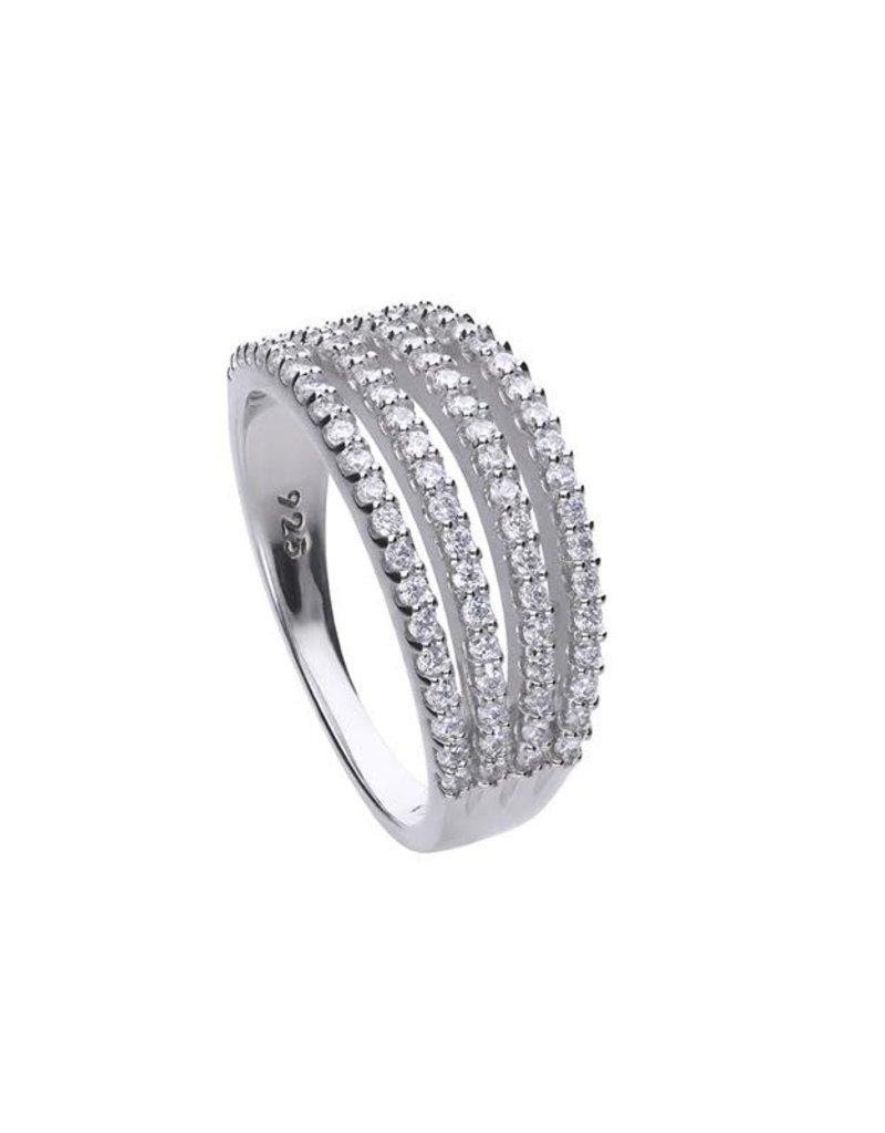 Diamonfire Diamonfire - Zilveren ring - Zirkonia - Maat 17