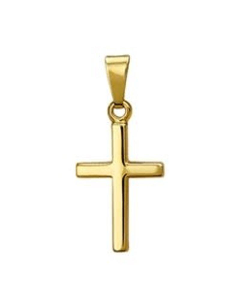 Gouden hanger - Kruisje - Glad