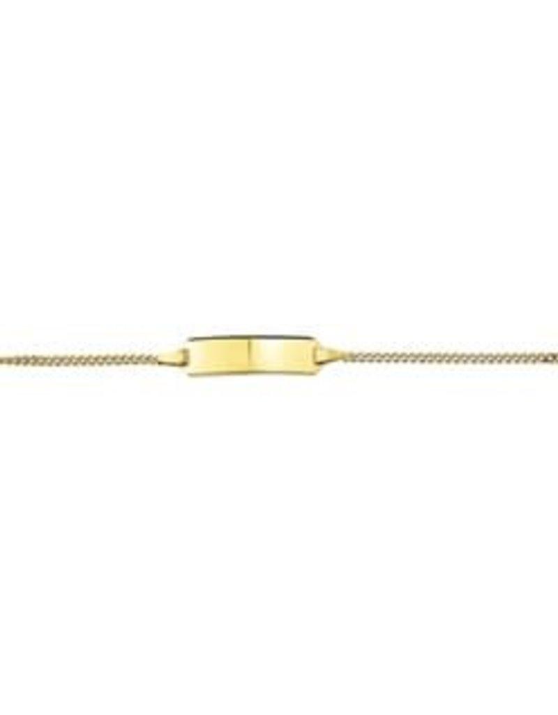 Gouden plaatbandje - Gourmet- 11-13 cm