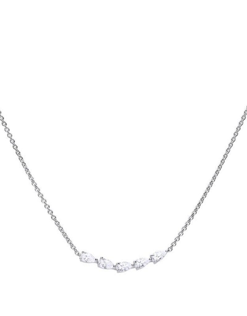 Diamonfire Diamonfire - Zilveren collier - Zirkonia - 0.90 ct. - 45 cm