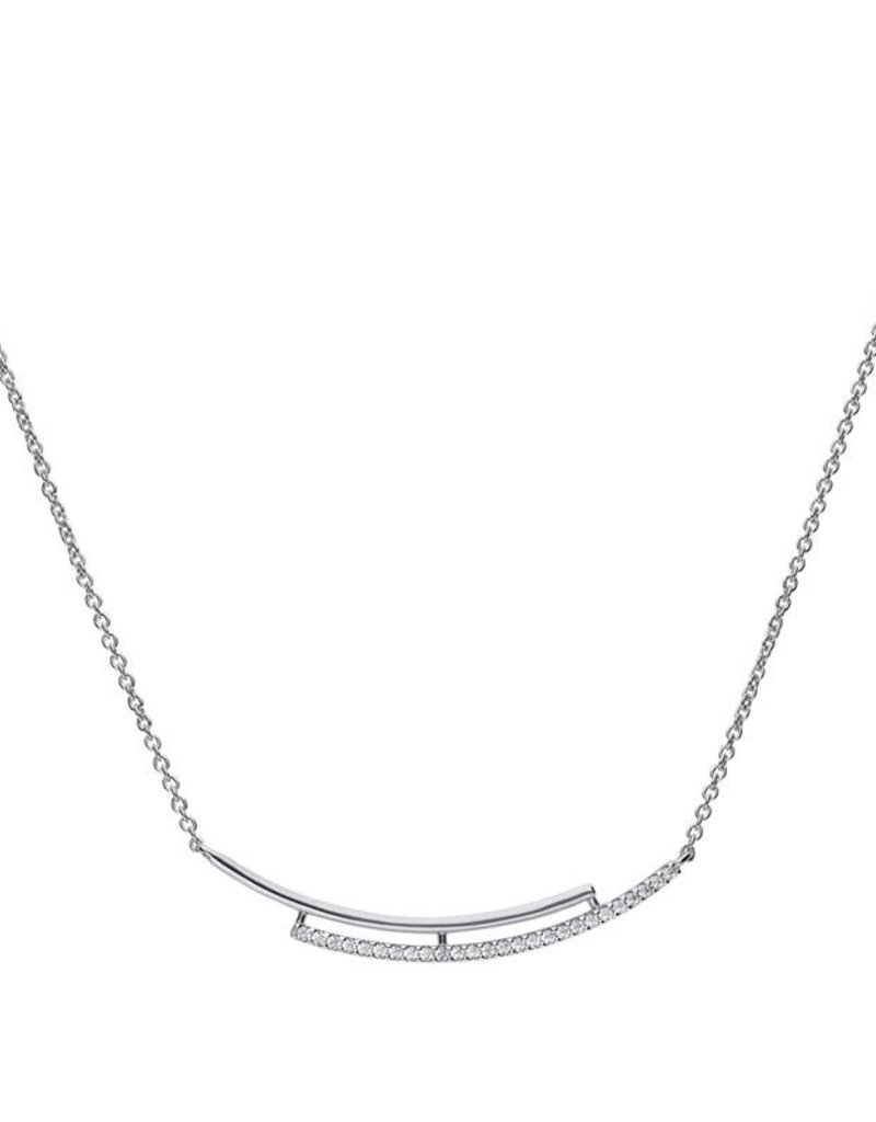 Diamonfire Diamonfire - Zilveren collier - Zirkonia - 0.51 ct. - 45 cm