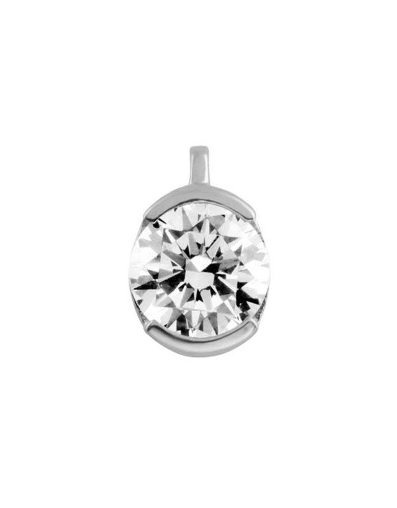 Diamonfire Diamonfire - Zilveren collier - Zirkonia - 1.00 ct. - 45 cm