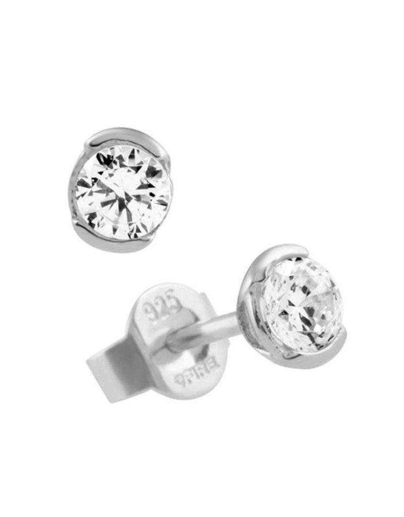 Diamonfire Diamonfire - Zilveren oorknoppen - Solitair - Mini - Zirkonia