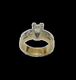 Geel/Wit gouden ring- Briljant - 0.65 crt - 0.28 crt - Maat 17.5