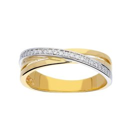 van Leeuwen Gouden ring - Diamant - 25 x 0.12 crt - Maat 56