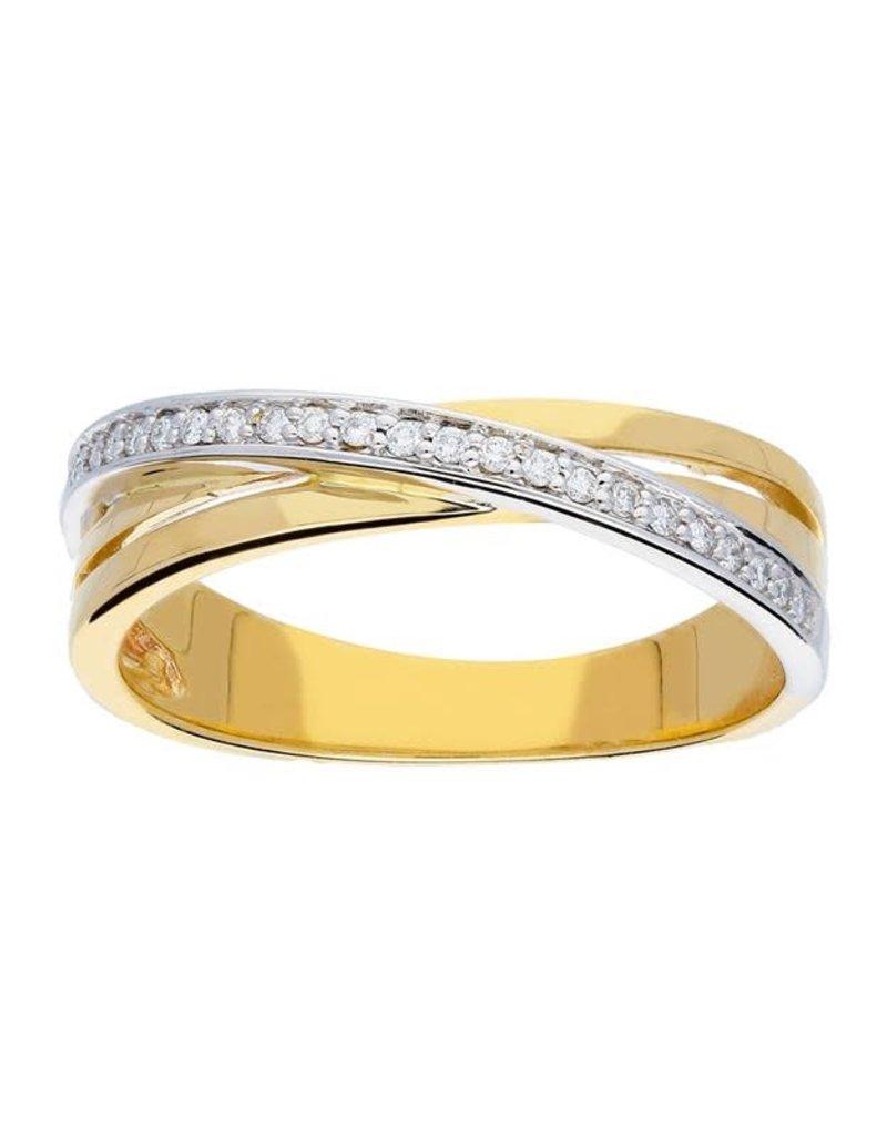 van Leeuwen Gouden ring - 14 karaats - Diamant - 25 x 0.12 crt - Maat 56