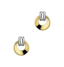 Geel/Wit gouden oorknoppen