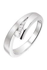 Zilveren ring - Mat/glanzend - Zirkonia - Maat 18.5
