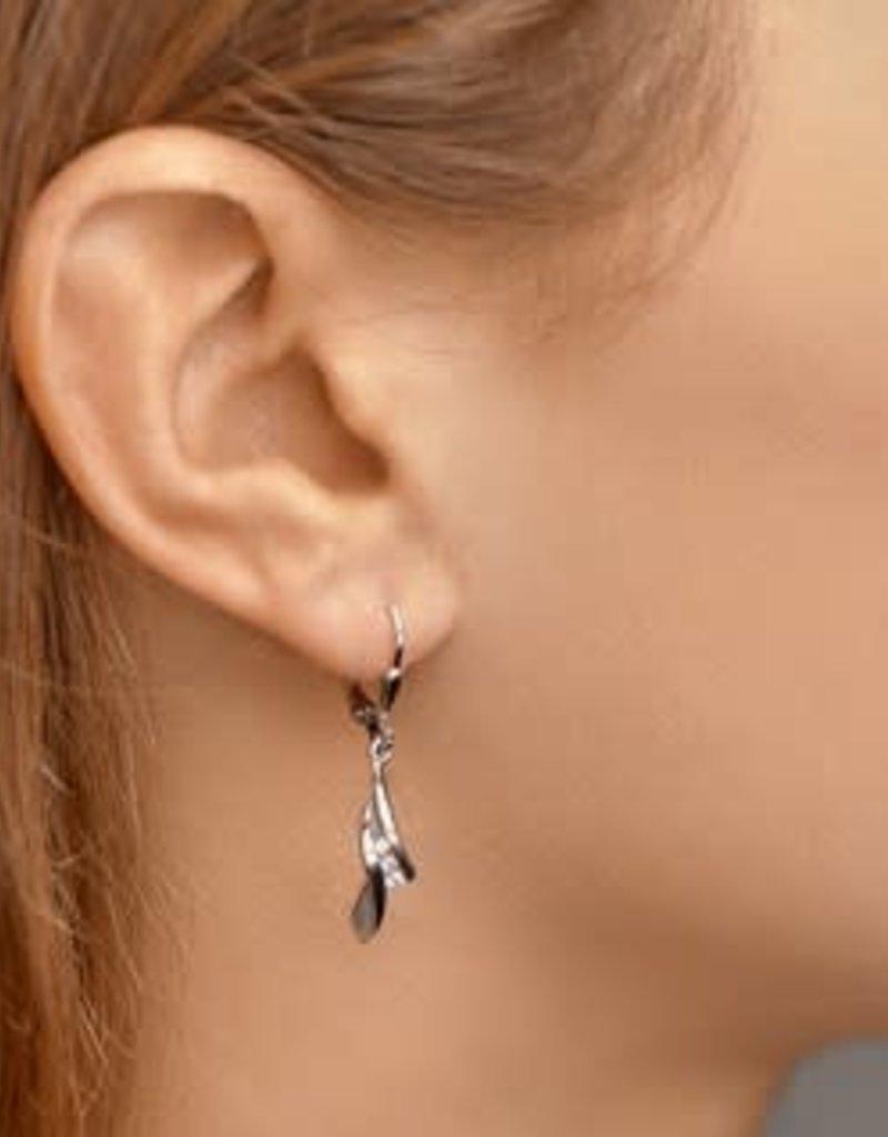 Zilveren oorhangers - Zirkonia