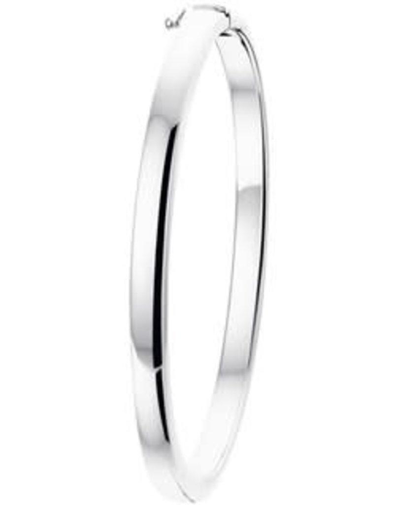 Zilveren slavenband - Gerhodineerd - 60 mm - 5 mm (Rond)