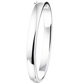Zilveren Bangle - Gerhodineerd - 60 mm - 7 mm  (rond)