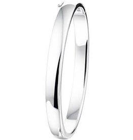 Zilveren slavenband - Gerhodineerd - 60 mm - 7 mm  (rond)