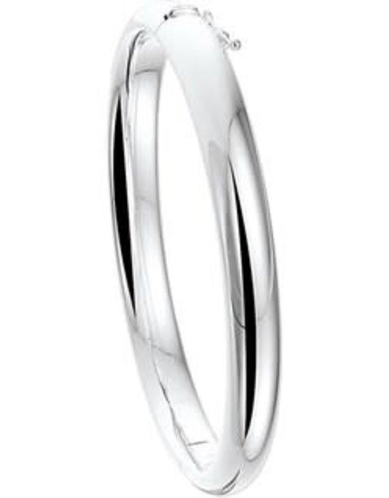 Zilveren slavenband - Gerhodineerd - 60 mm - 8 mm (Rond)