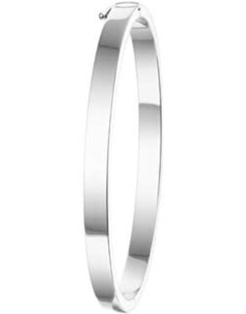 Zilveren slavenband - Gerhodineerd - 60 mm - 5 mm (Vlak)