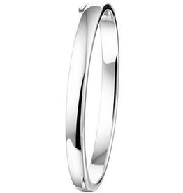 Zilveren Bangle - Gerhodineerd - 6 mm (rond) - 60