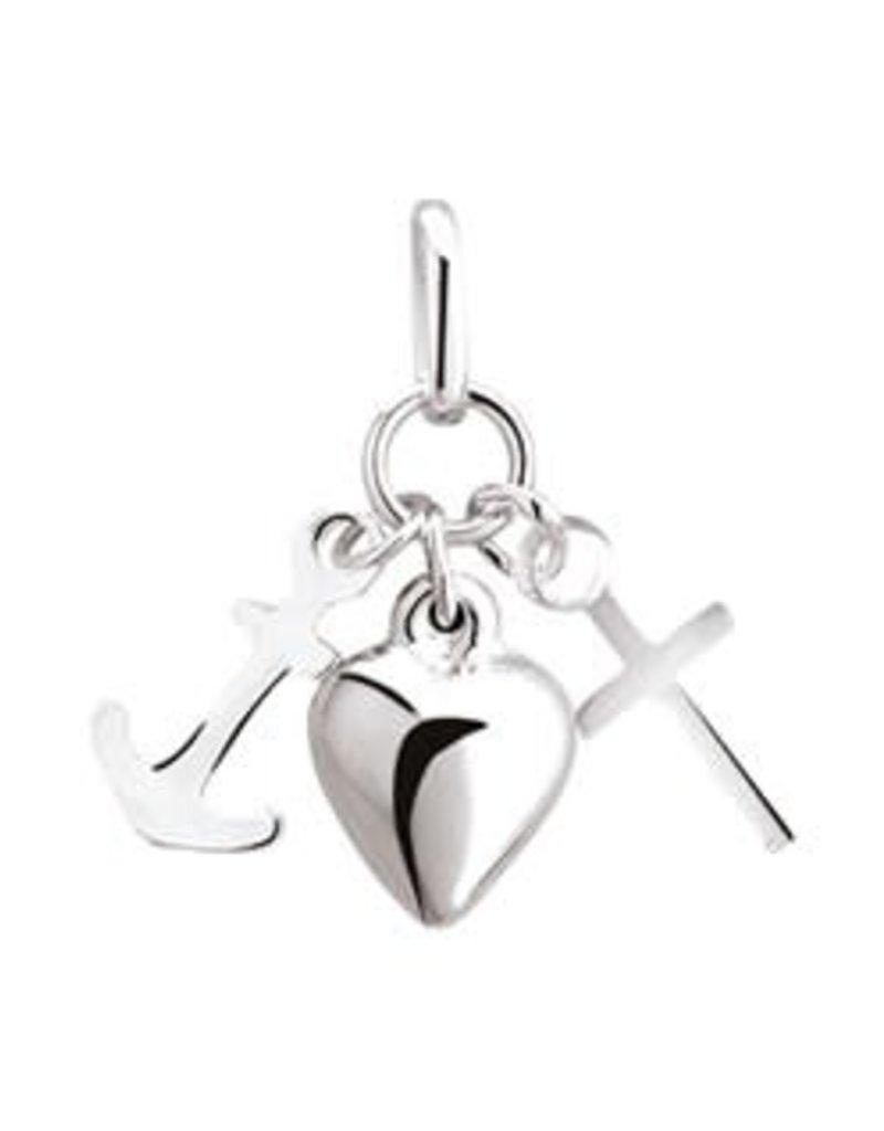 Zilveren hanger - Geloof, hoop en liefde