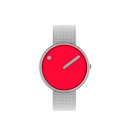 Picto Picto - Horloge - Rood - Staal - 40 mm - Milanees