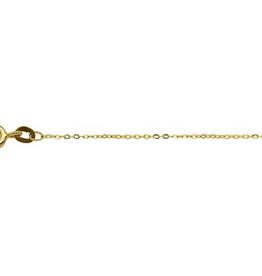Gouden lengte collier - Anker - 1.0  mm - 42 cm