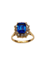 Occasions by Marleen Occasions by Marleen - Gouden ring - Synthetisch Saffier - Zirkonia