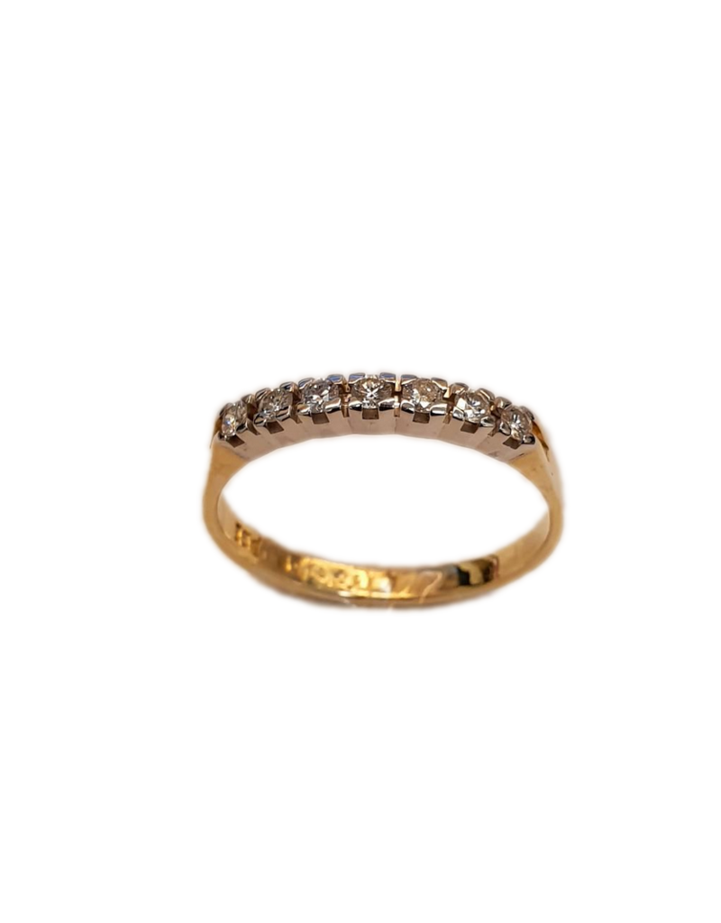 Occasions by Marleen Occasions by Marleen - Gouden alliance ring - Desiree - Briljant - 7x 0.03crt - TW/VS - Maat 17.5