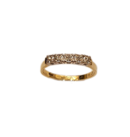 Occasions by Marleen Occasions by Marleen - Gouden ring - Briljant - 5x 0.016 crt - Riviere - Maat 17.75