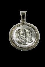 Occasions by Marleen Occasions by Marleen - Zilveren munthanger - Herdenking prins Bernard en koningin Juliana 50 jaar getrouwd 1937-1987