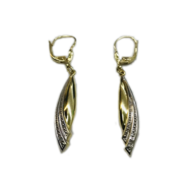 Occasions by Marleen Occasions by Marleen - Wit/geel gouden oorhangers - Diamant