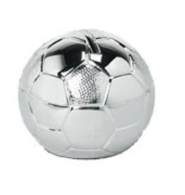 van Steyn Geboortecadeau - Verzilverde spaarpot - Voetbal
