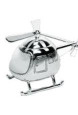 van Steyn Geboortecadeau - Verzilverde spaarpot - Helicopter