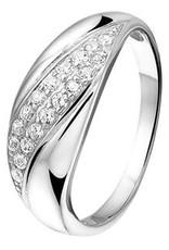 Zilveren ring - Gerhodineerd - Zirkonia - Maat 17.25