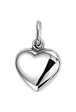 Zilveren hanger - Hart - Gerhodineerd - 8.5 mm