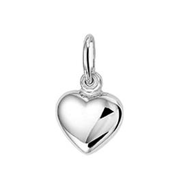 Zilveren bedel - Hart - Gerhodineerd - 6.5 mm