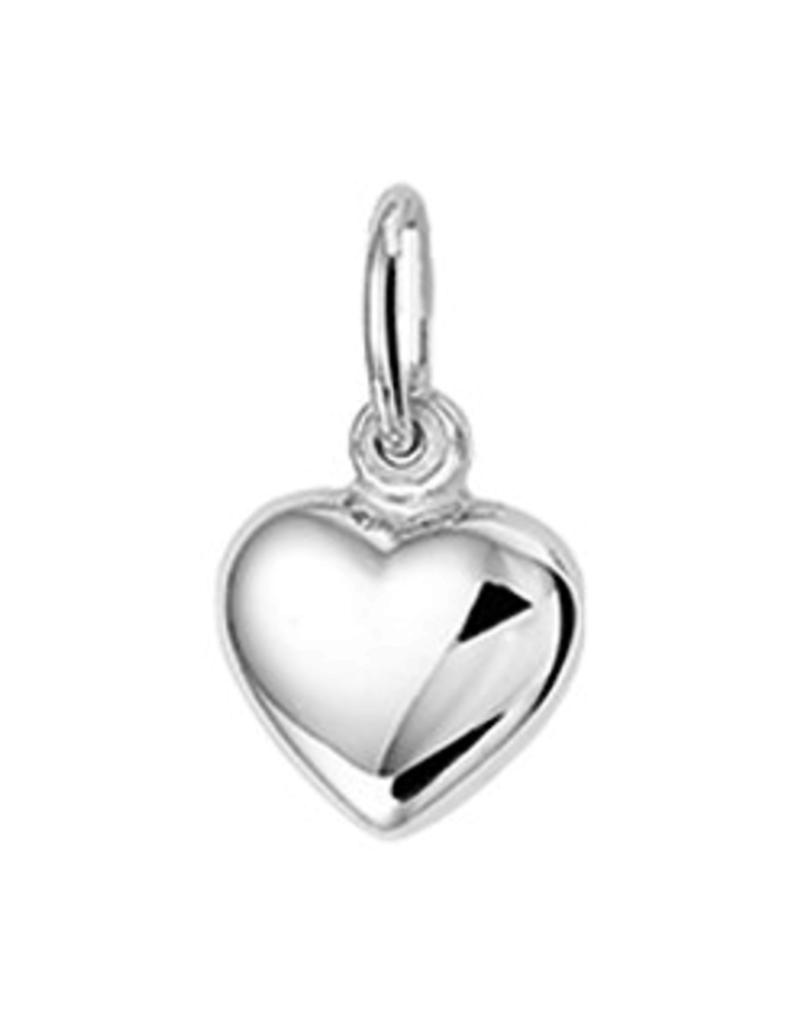 Zilveren hanger - Hart - Gerhodineerd - 6.5 mm