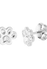 Zilveren oorknoppen - Gerhodineerd - Hondenpoot