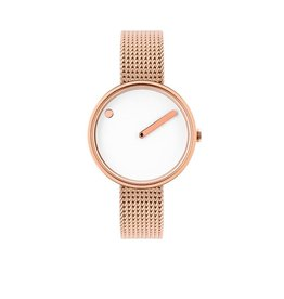 Picto Picto - Horloge - Rose - Staal - 40 mm - Milanees