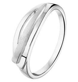 Zilveren ring - Gerhodineerd - Mat/glanzend - Maat 17.75