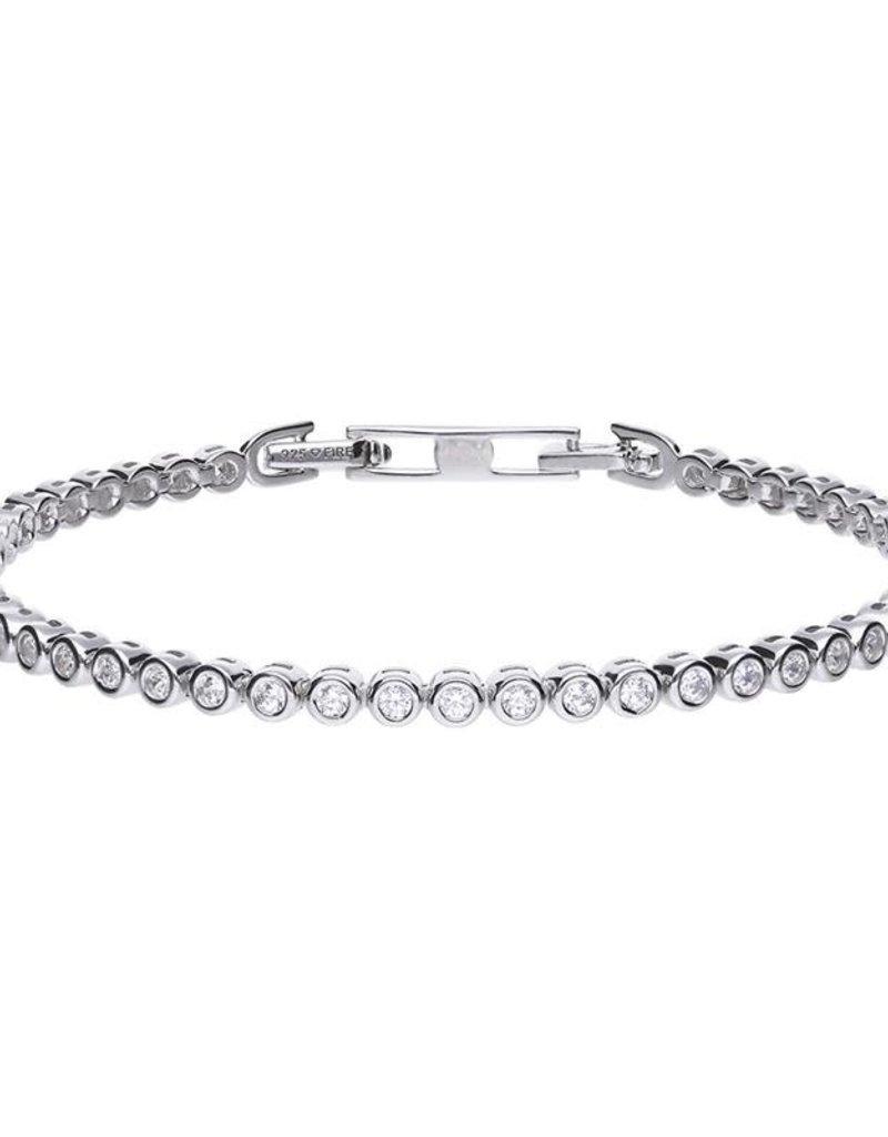 Diamonfire Diamonfire - Zilveren tennisarmband - Kastzetting - Zirkonia