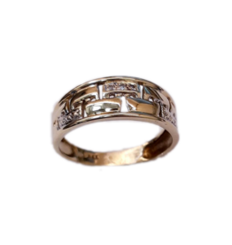 Occasions by Marleen Occasions by Marleen - Gouden ring - 3 x diamant  0.02 crt - Maat 18 VERKOCHT