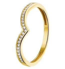 Gouden ring - Zirkonia - Maat 17.75