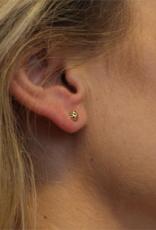 van Leeuwen Gouden oorknoppen - 14 karaats - 5.0 mm - Gediamanteerd