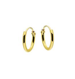 van Leeuwen Gouden draadcreolen - Ronde buis - 1.3 mm