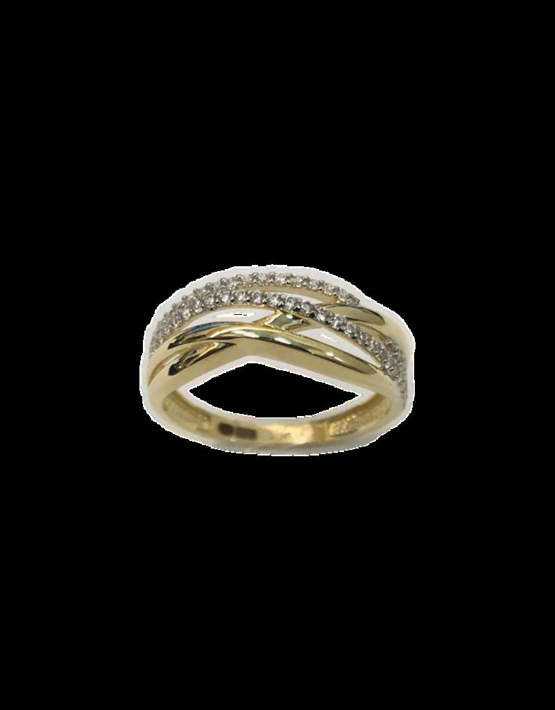 Gouden ring - 14 karaats - Zirkonia - Maat 58