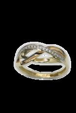 Gouden ring - Zirkonia - Maat 54