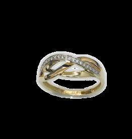 Gouden ring - 14 karaats - Zirkonia - Maat 54