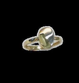 Gouden ring - Bicolor - Mat/glanzend - Maat 54