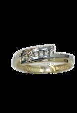 Gouden ring - Bicolor - Zirkonia - Maat 54
