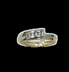 Gouden ring - 14 karaats - Bicolor - Zirkonia - Maat 54