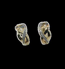 Gouden creolen - Zirkonia