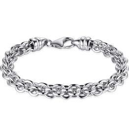 Gisser Zilveren armband - Gerhodideerd - 19 cm